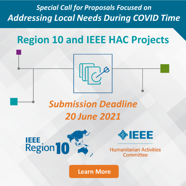 Call for Proposals - Apply to the First-Ever IEEE Region 10 and IEEE HAC