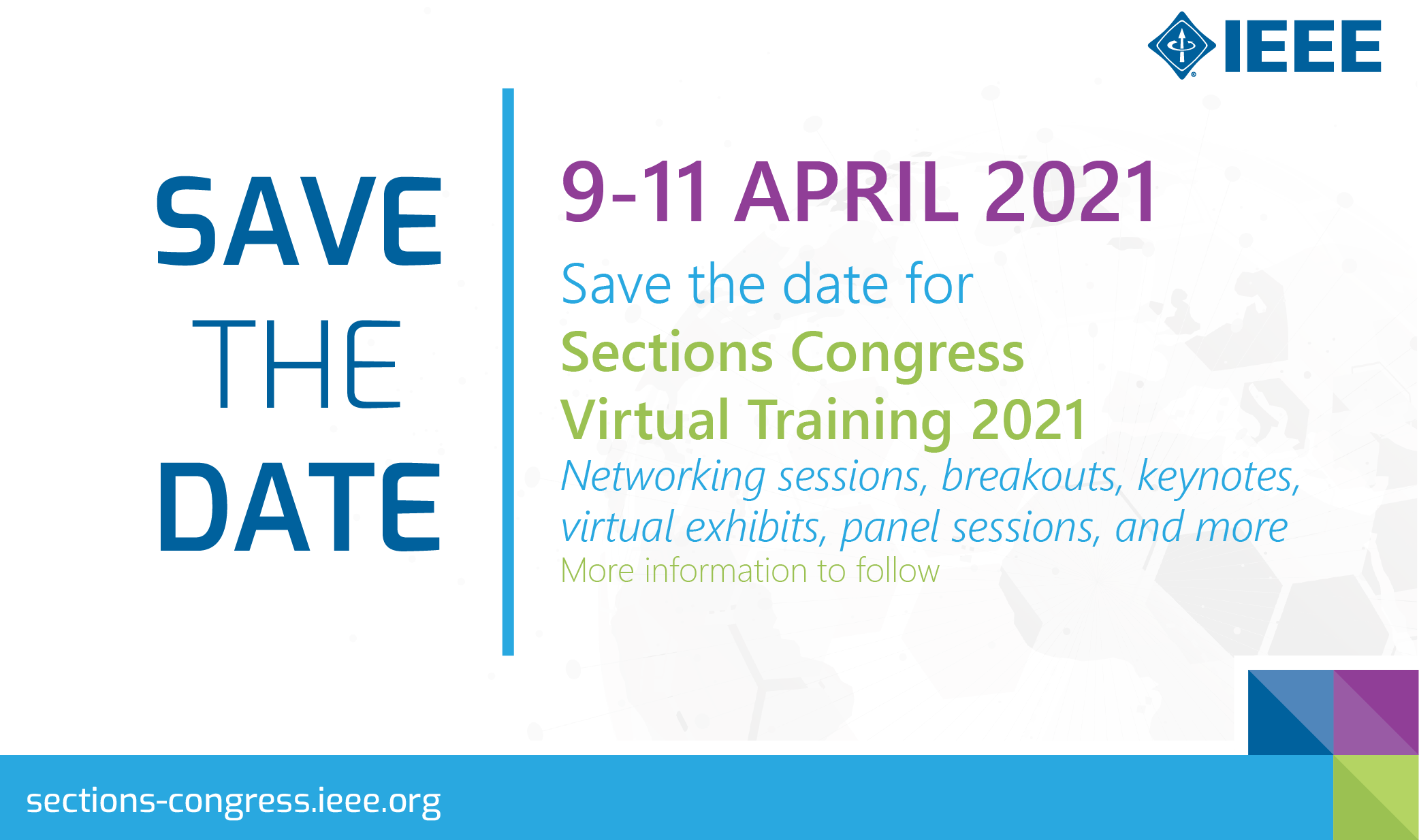 Save the Date - Sections Congress Virtual Training 2021